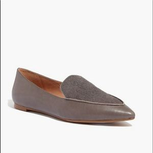 Madewell The Lou Loafer Leather Pointed Toe size 6